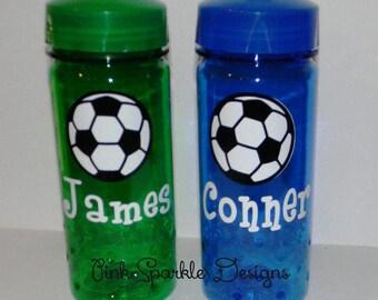 Kids Water Bottle - Soccer - Personalized