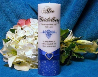 In Loving Memory of Personalized Memorial Candle - Swirl Flourish Memorial Candle - Memory Candle - Sympathy