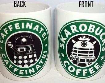 Doctor Who Daleks Skarobucks Coffee Mug