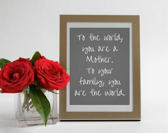 Mothers Day Digital Print - Black