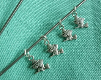 Set of 4 witch stitch markers