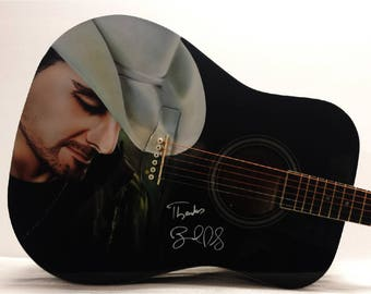Brad Paisley Autographed Guitar Pro Airbrushed