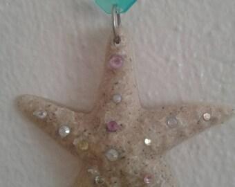 Starfish Cariibean Beach Sand Ornament or Sunxatcher