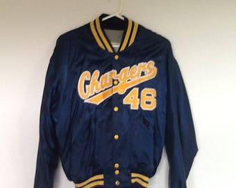 Chargers Vintage Baseball Jacket