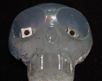 badge skull resin glow in the dark