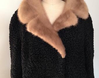 Vintage Astrakhan coat 1950s