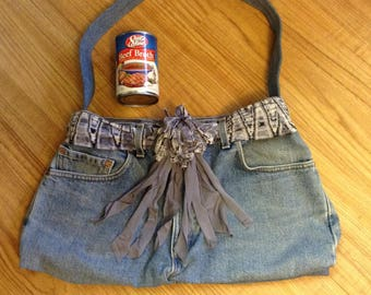 Recycled upscaled Levi's demin purse bag
