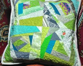 Decorative patchwork pillow