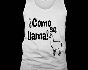 Men's Tank Top Como Se Llama? Mexican Spanish Humor Tee