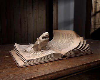 Print Series The Pop Up Book Collection - Shark - Imaginative Images Print To Size