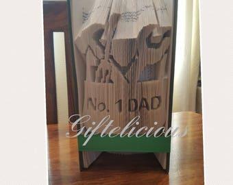 Beautiful dad book folding gift