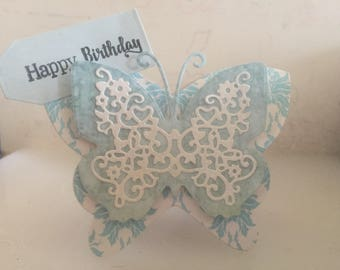 Lacy butterfly in blue