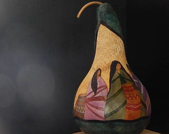 Decorative Hand Crafted & Hand Painted Gourd