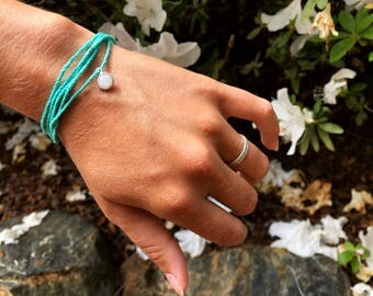 Tiffany Blue Hemp Bracelet W/ Pendant