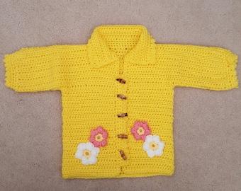 Beautiful yellow Cardigan- Baby