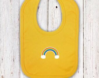 Yellow Rainbow Baby Bib