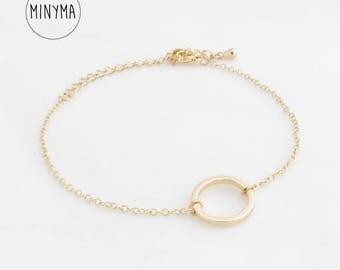 "Circle Bracelet ""Open Circle"" gold"