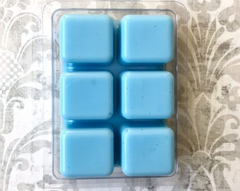 Country Garden Wax Tart Melt Breakaway Clamshell Soy Wax Candle Scented Bar Cubes Aromatherapy Blue