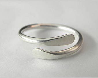 Handmade Ring, Hammered Ring, Silver Ring