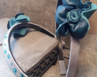 "HEADBAND ""fabric and leather"