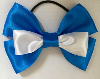Alice in Wonderland Inspired Double Hair Bow