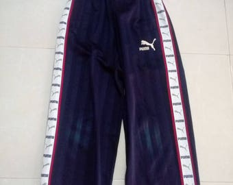 Vintage Puma stripe logo pants