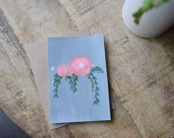 Rosie Vine Hand Painted Card