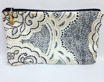 Dot art fabric makeup bag/ accessory bag/ travel bag