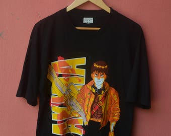 Vintage 80s AKIRA ANIME COMMITTE Shirt Japanese Anime Ghost In The Shell Rare