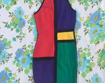 extra small primary colors mini bodycon dress 00