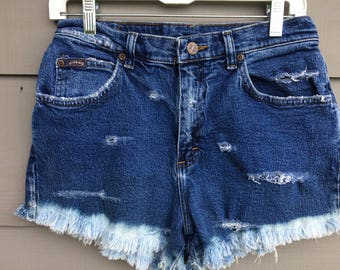 VIntage Lee High Waisted Distressed Jean Shorts