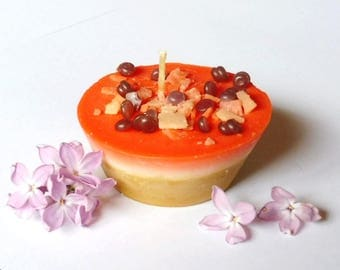 Candle cupcake, gourmet candle, candle pastry, home made candle, gift candle, candle raspberry