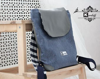 Backpack (textile and leatherette)