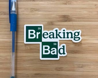 Breaking Bad Logo Vinyl Sticker, Heisenberg, Walter White, AMC TV Shows, Better Call Saul, Jesse Pinkman, Nerd Stickers, Pop Culture Sticker