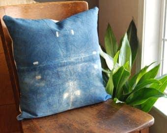 """Wikkelen Pillow - 18""""x18"""" - Handmade Naturally Dyed Home Decor"""