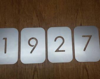 """7"""" Steel plate numbers"""