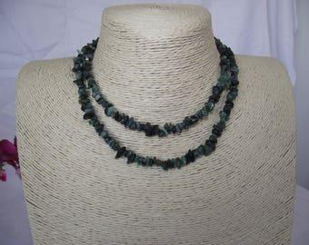 Emerald Nuggets Necklace Genuine Natural Emerald