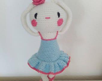 Sleeping beauty, Bunny, crochet, ballerina, Hasenballeria, Luiluh