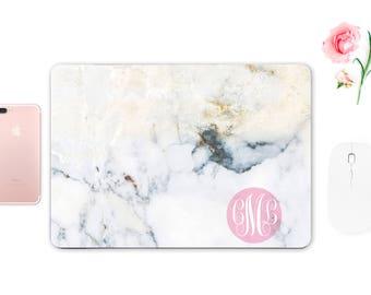 Custom Monogrammed Marble Decal Macbook Pro 15 Decal Macbook Air 11 Skin Keyboard Decal Macbook 12 Sticker Laptop Sticker ESD042