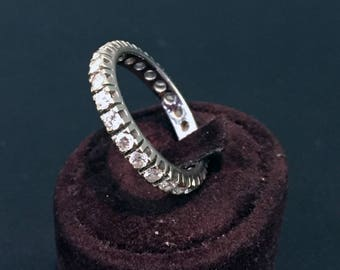 White Gold eternity ring with 24 diamonds