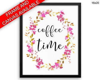 Coffee Time Prints  Coffee Time Canvas Wall Art Coffee Time Framed Print Coffee Time Wall Art Canvas Coffee Time Coffee Art Coffee Time