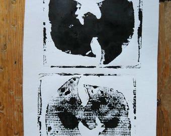 Wu Tang Woodcut Print