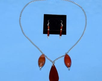 Necklace and Earrings Glass Beads