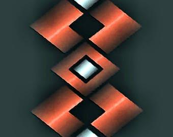 GRAPHIC METAL ART 107 - 3er set - canvas - canvas - poster - color - color - graphic art - graphic art - modern art - modern art