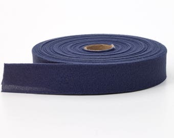 "Quilt binding, brushed, 1"" centerfold, 25 yds, Navy"
