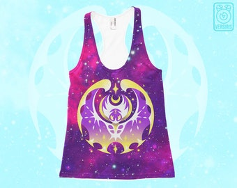 Pokemon Moon TANK TOP Lunala // All-Over Print // Pokemon Sun Moon // New Pokemon // Galaxy Stars // Mens & Womens Sizes // Gamer Gifts