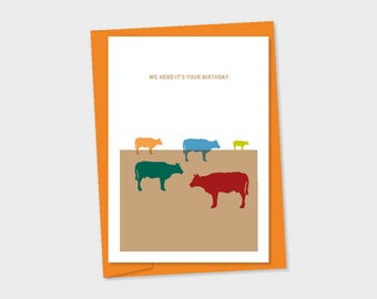 birthday card - we herd it's your birthday