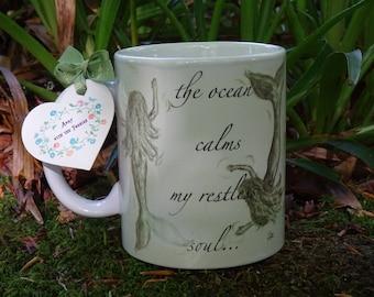 Mermaids  Mug Hand Made Original Design