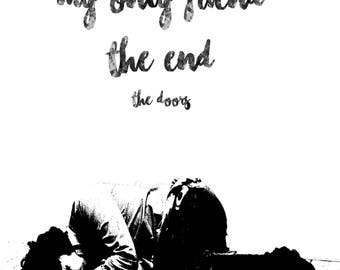 Jim Morrison The End Print