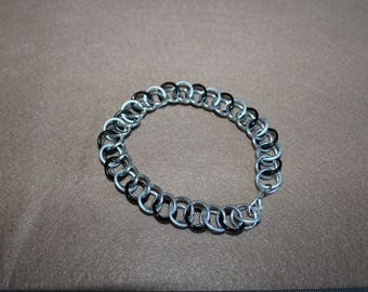 Chain Maille Bracelet Black and White